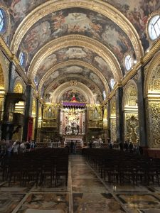 Baroque interior of the Co-Cathedral of St. John