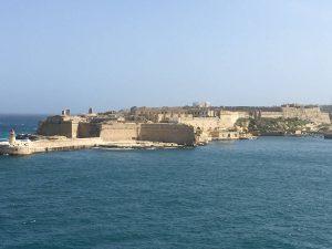 Fortress defending the Valetta grand harbor